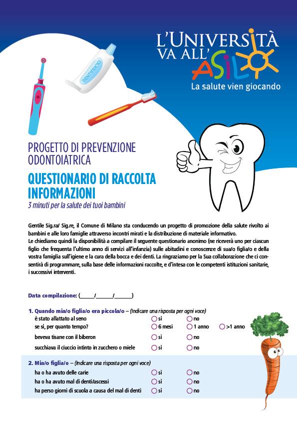 Questionario - Igiene orale bambini